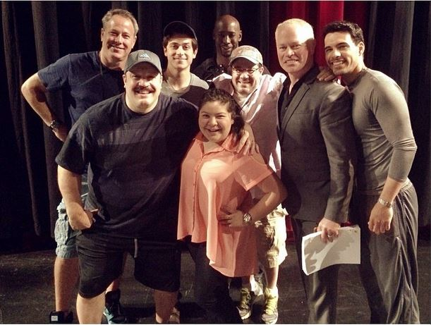#Kevinjames #DavidHenrie #Rainirodriguez #GeovanniGopradi #NealmcDonough and the director #AndyFickman #rehearsals #castcrew From : raini's instagram ! @rainydaychatter